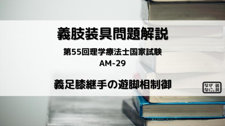 第55回理学療法士国家試験 午前-29 義肢装具 問題解説