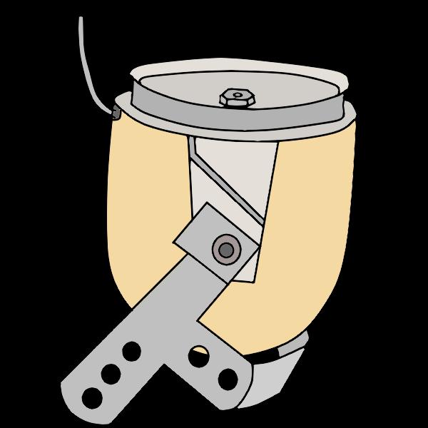 能動単軸肘ブロック継手