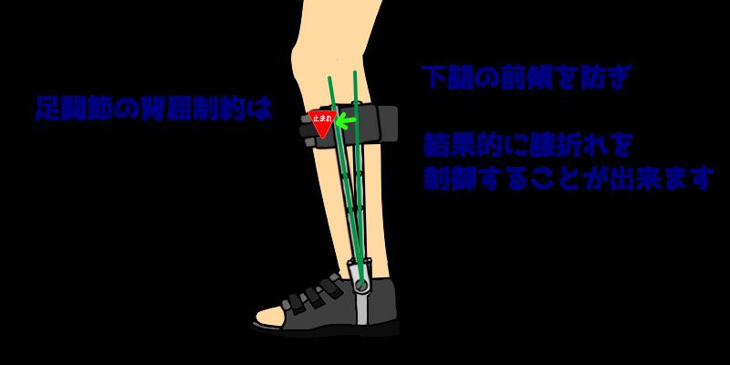 足継手背屈制限による膝折れ制御