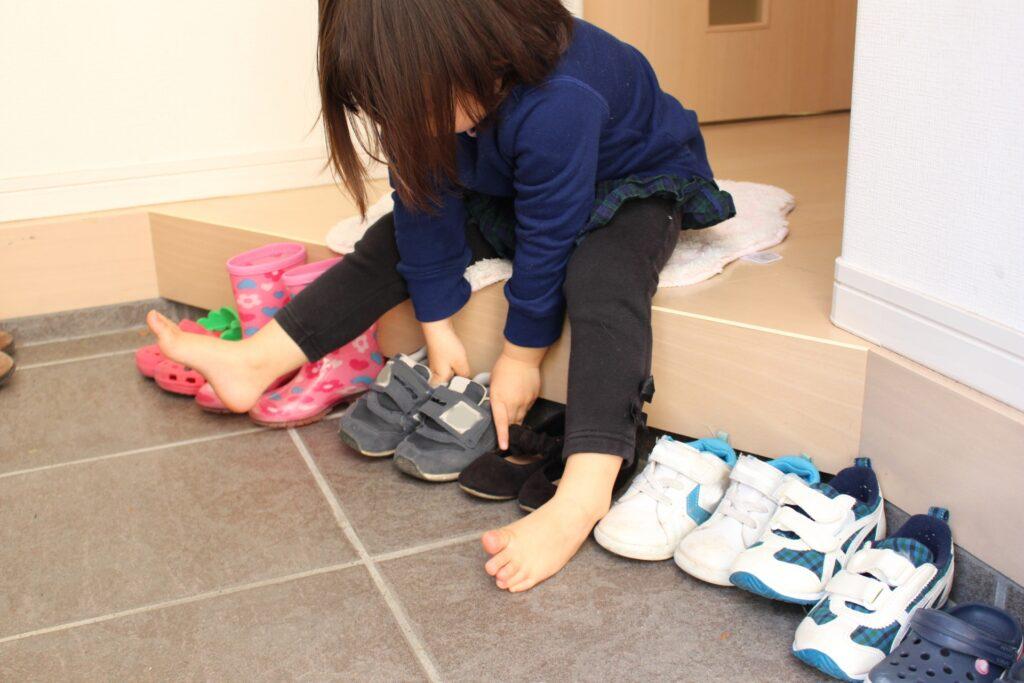 靴の履き替え