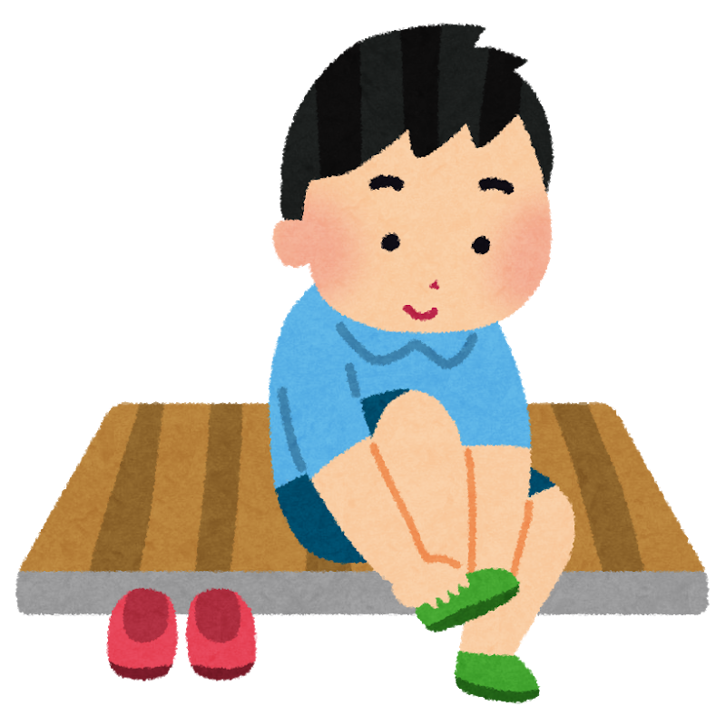 日本の生活様式 靴の脱ぎ履き
